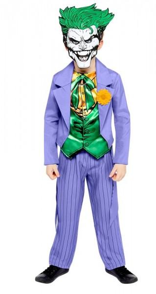 Joker comic style kids costume