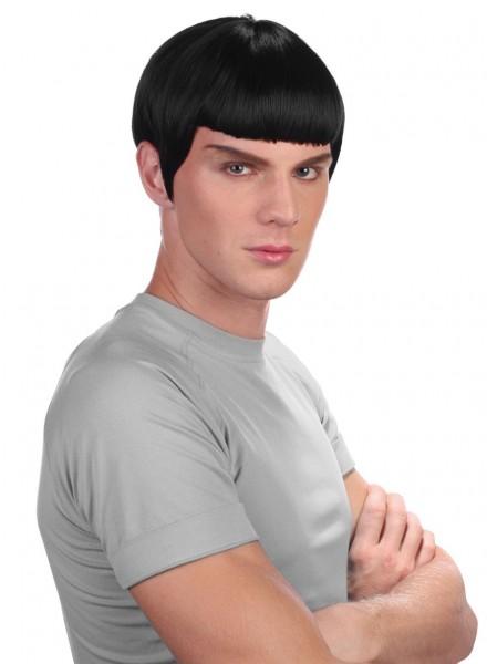 Perücke Spock Star Trek Schwarz