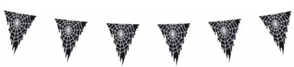 Wimpelkette Spinnennetz 10m
