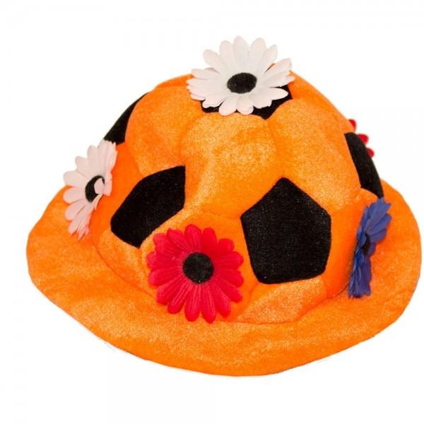 Holland Fußball Hut mit Blumen
