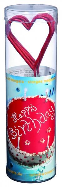 4 bougies d'anniversaire coeur 20cm