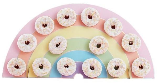 Pastell Regenbogen Donutwand