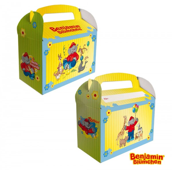 6 Benjamin Blümchen gift boxes with a name field