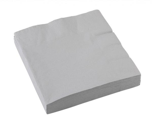 Partytime Papier Serviette Silber 20er Set 1