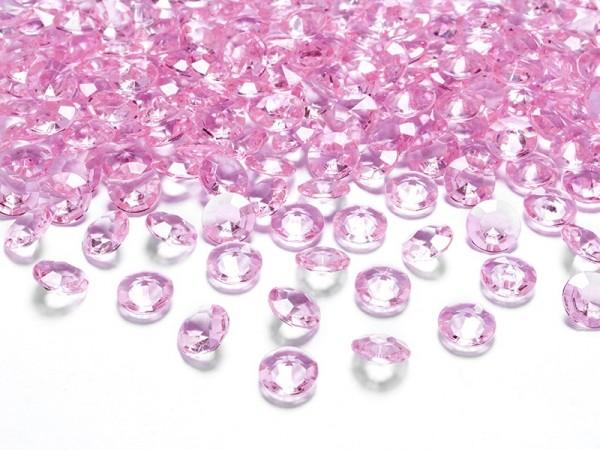 100 funkelnde Diamanten Streudeko hellrosa 12mm 1