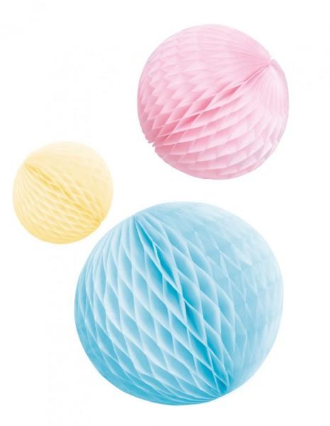 3 Shiny Pastell Wabenbälle