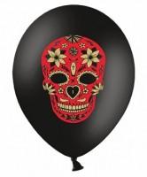 6 Fest der Toten Ballons schwarz 30cm