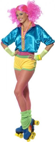 Costume al neon colorato Rollergirl