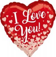 Love ballon coeur magique 43cm