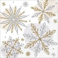 16 Serviettes Let it snow 25cm