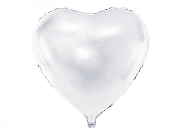 Globo foil Herzilein blanco 61cm