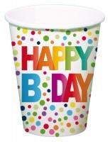 8 Splendid Birthday Pappbecher 250ml