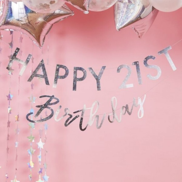 DIY Starful Birthday garland 1.75m