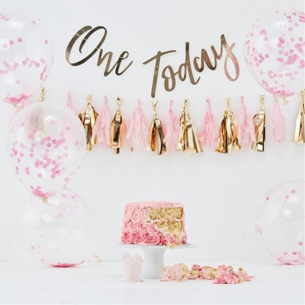Hooray One Today Partyset rosa 8-teilig