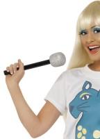 Silbernes Popstar Mikrofon