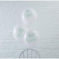 10 Hallo Welt Luftballons 30cm