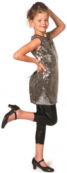 Pailletten Disco Kleid 70er Jahre für Kinder