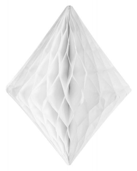 White diamond honeycomb ball 24x30cm
