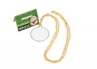 Monocle avec chaîne en or