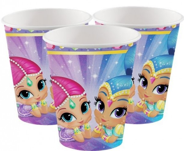 8 Shimmer & Shine Jewels Pappbecher 266ml