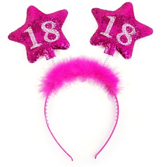 Shiny 18th Birthday headband 13cm