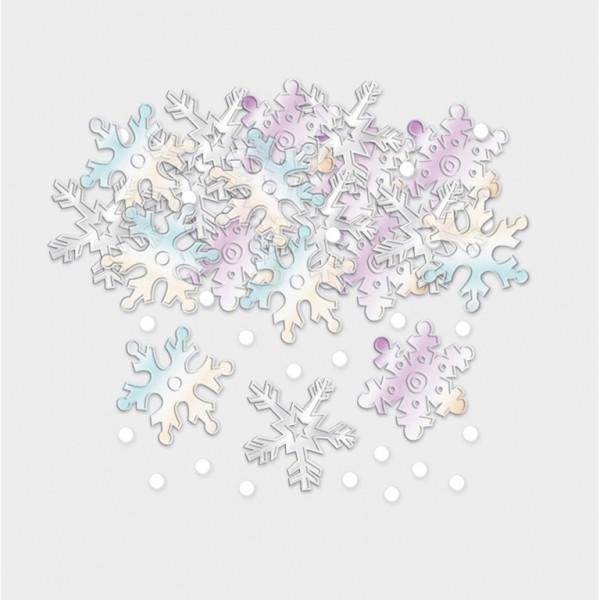 Copos de nieve brillantes espolvorear decoración 14g