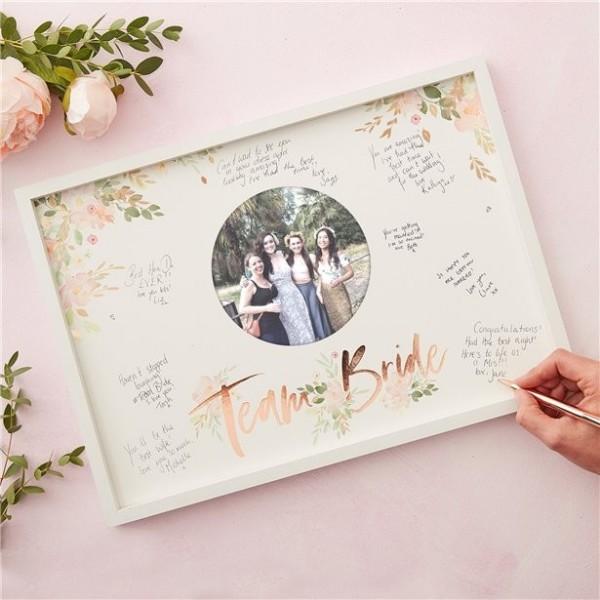 Rosy Bride Gästebuch Rahmen 44 x 32cm