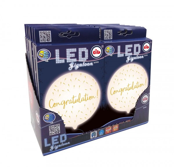 XXL LED balloon congratulations 65cm