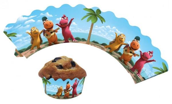 12 Banderoles à muffins à la noix de coco Little Dragon