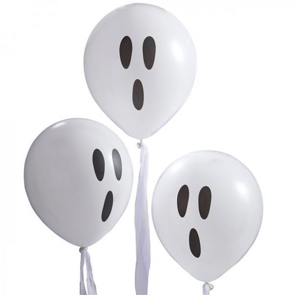 3 Geisterballons mit Kreppband 30cm
