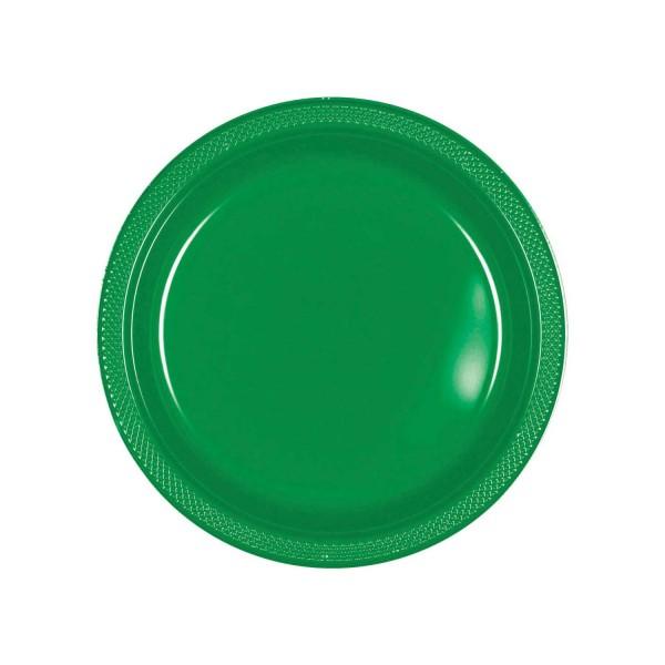 10 assiettes Partytime en vert 17,7 cm