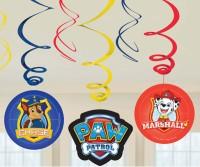 6 Paw Patrol Action Spiral Hänger