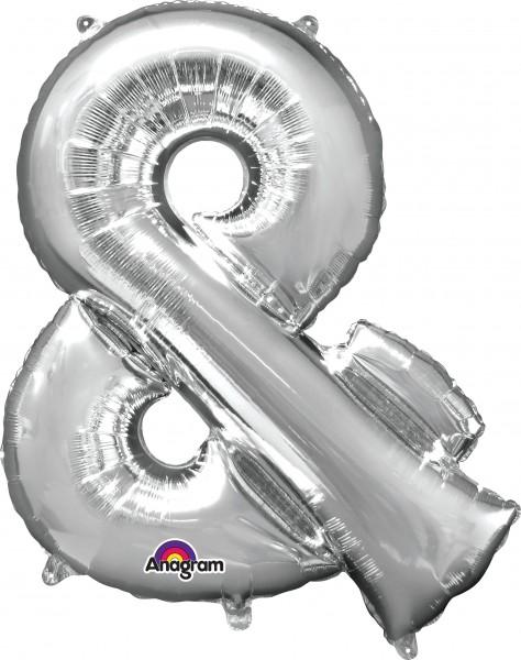 Folienballon &-Zeichen silber 96cm