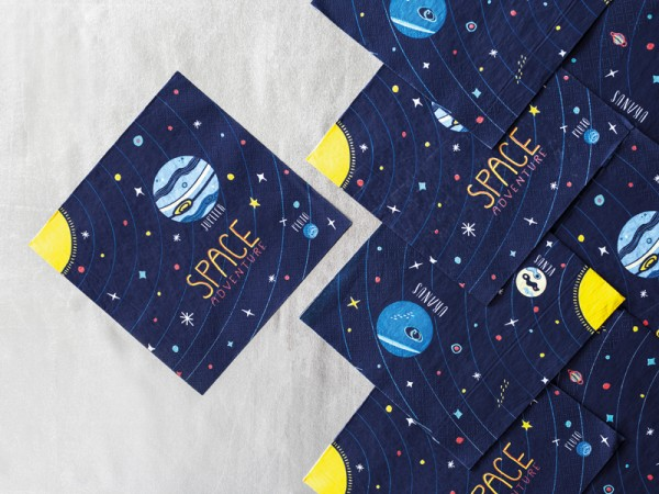 20 Serviettes Space Party 33 cm