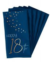 18. Geburtstag 10 Servietten Elegant blue