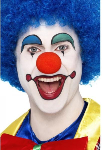 Blaue Afro Clownsperücke