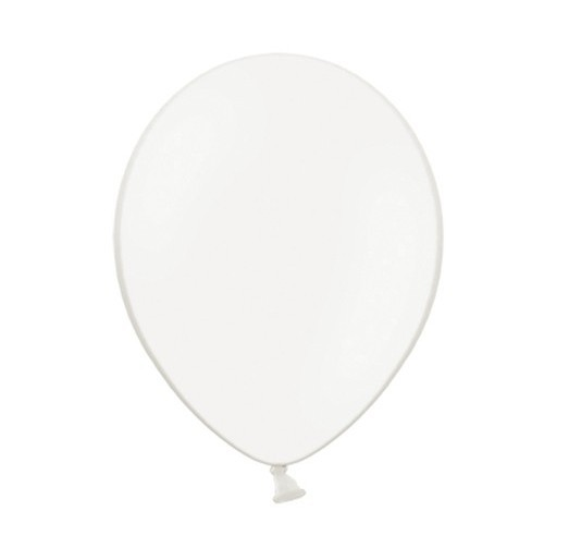 100 Pastellweiße Luftballons 23cm 1
