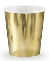 6 Goldrausch Pappbecher 180ml