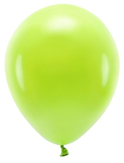 100 eco pastel balloons light green 26cm