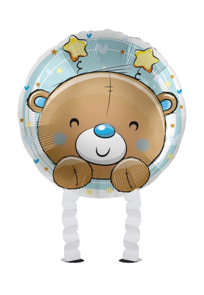 Baby Boy Bear Airwalker Foil Bllon 43cm