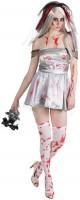 Blutverschmierte Zombie Braut Kostüm Mit Schleier