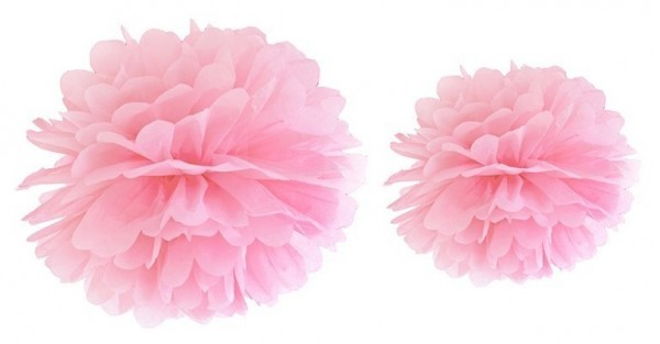 Pompon Romy light pink 25cm