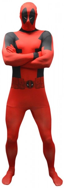 Roter Deadpool Morphsuit Wannabe