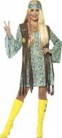 Flower Power Hippie Kostüm mit Fransenweste