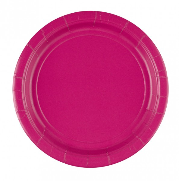 8 assiettes en papier Mila rose 22.8cm