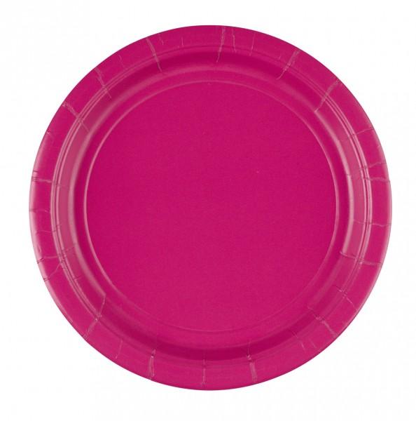 8 platos de papel Mila rosa 22,8cm