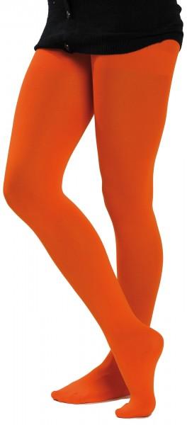 f5d9e0165ca1d5 Blickdichte Strumpfhose Orange