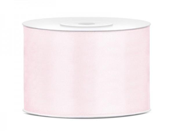 Cinta de raso 25m rosa polvo 5cm ancho