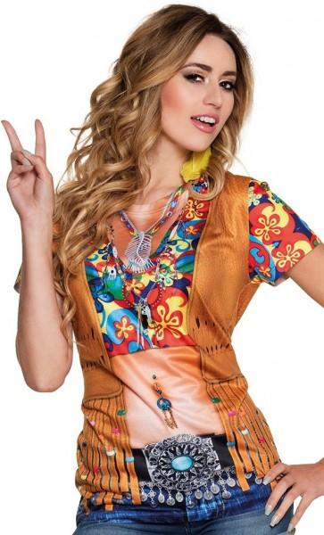 70s hippie 3D shirt for women