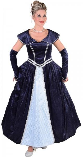 Royales Samtkleid Renée In Blau